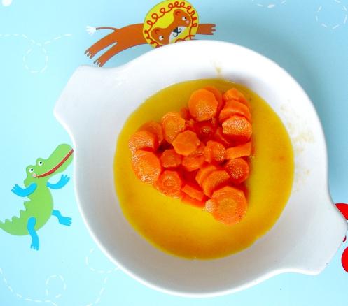 carote  al miele e succo di pompelmo