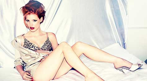 Jessica Chastain, en ropa interior