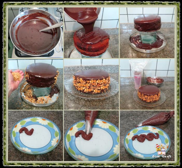 Massa de chocolate e amendoim 4