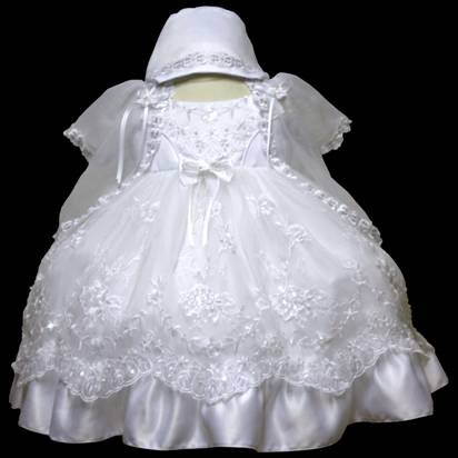 Angel baby girl Christening Baptism Dress Gowns outfit /XS/S/M/L/XL/0-3M/3-6M/6-12M/12-18M/18-24M/XSMALL/SMALL/MEDIUM/LARGE/XL/#605 at Sears.com