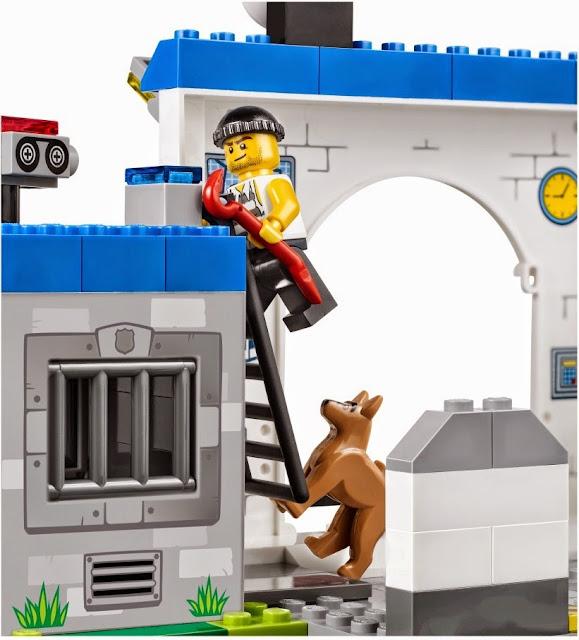 Hình ảnh sinh động của tên trộm trong bộ xếp hình Lego Juniors 10675 Police The Big Escape
