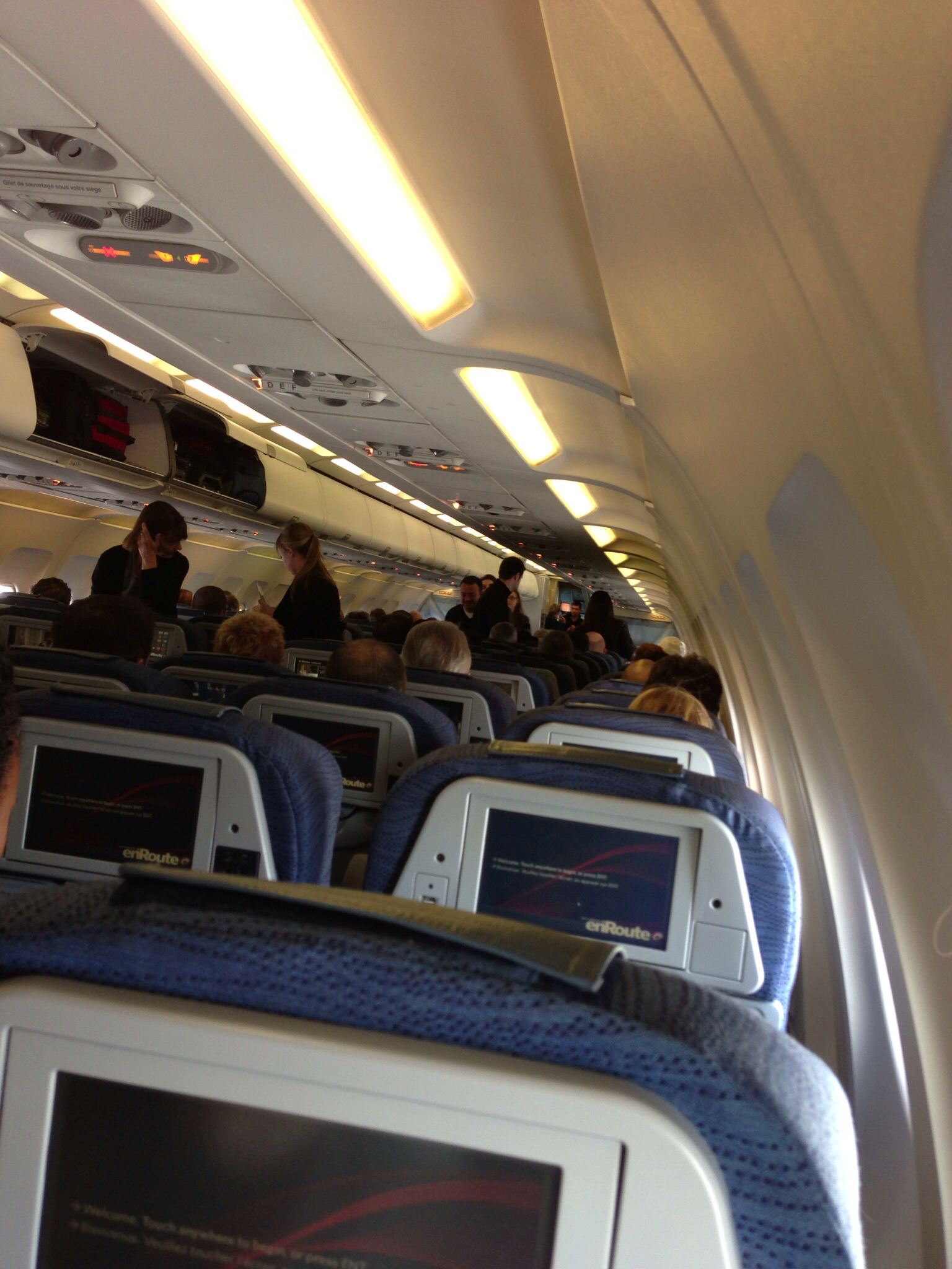 Air Canada flight to Las Vegas