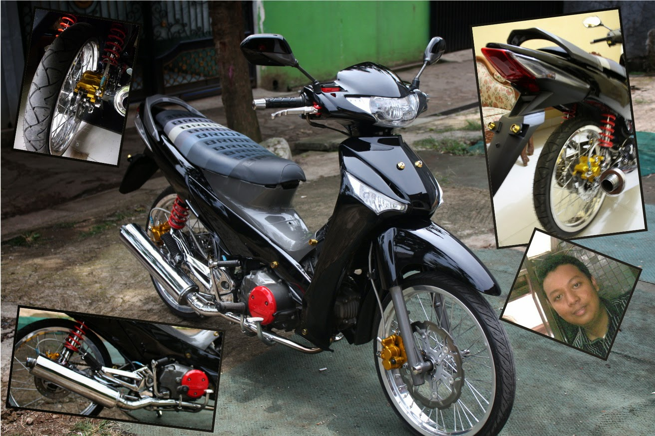 Modifikasi Lampu Depan Motor Supra X 125