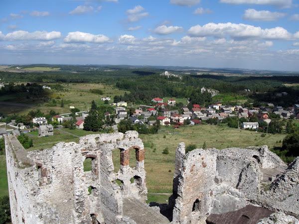 zamek ogrodzieniec - widok z baszty