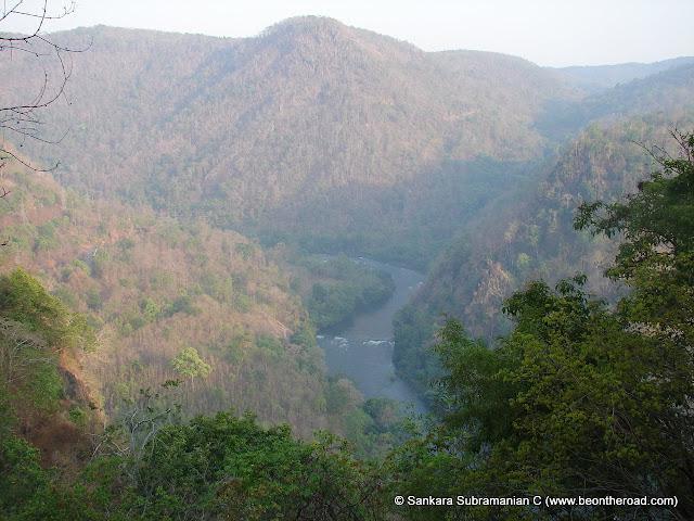 Bird's eye view of Kali river