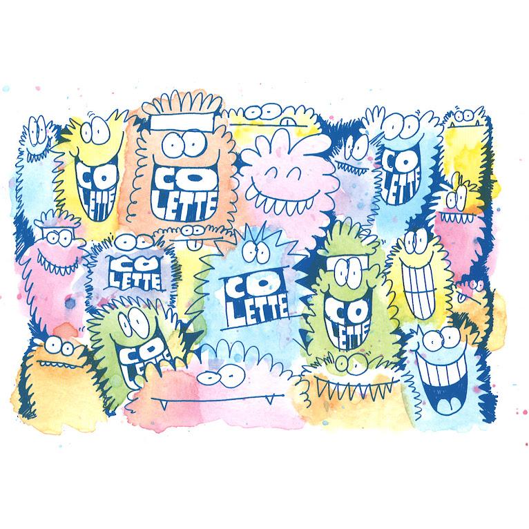 *藝術家KEVIN LYONS x colette :藍色小怪物系列 1
