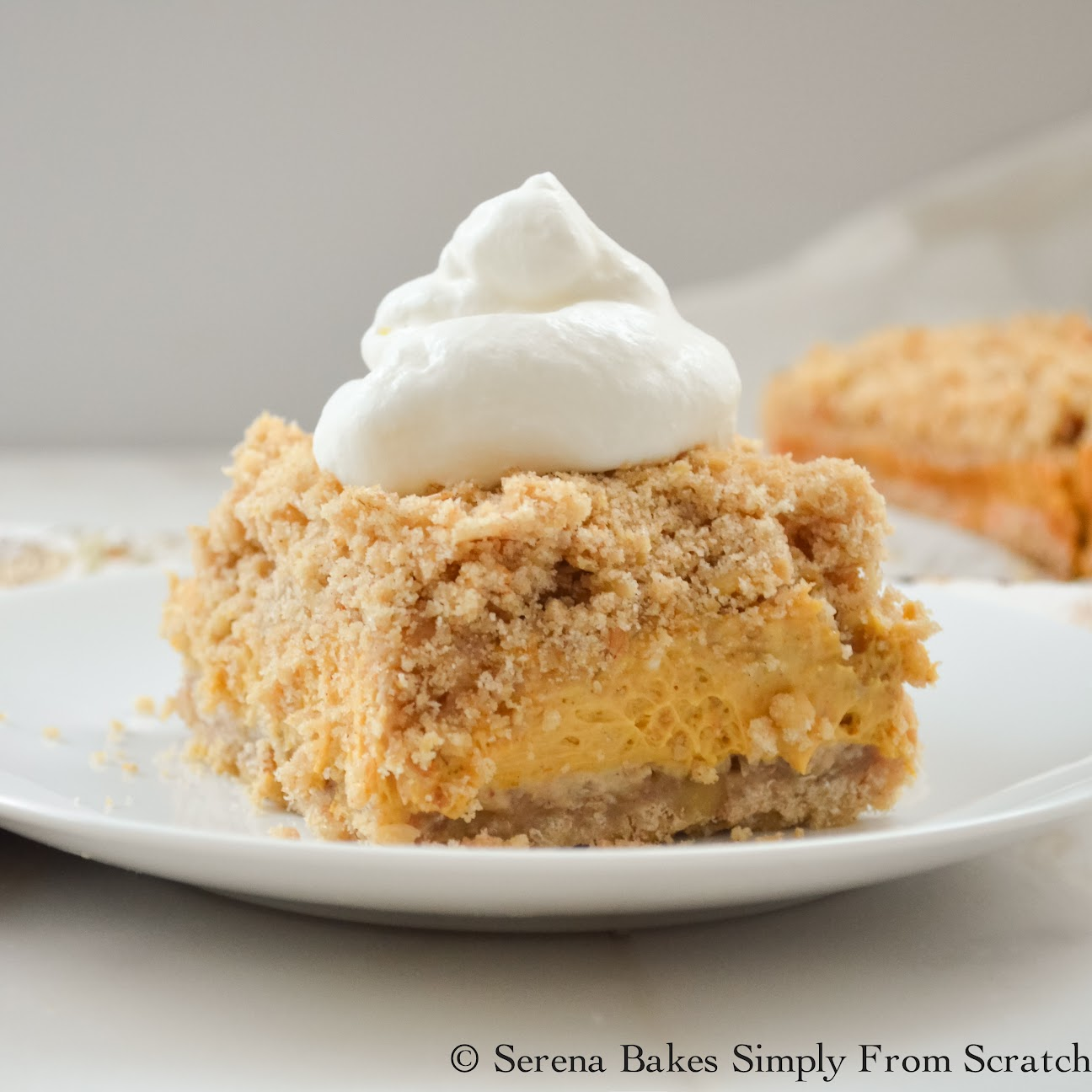 An easy to make Pumpkin Cheesecake Bar with a Crumb Topping. Perfect ...