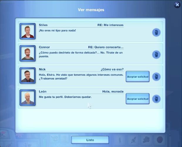 Ver mensajes citas online sims