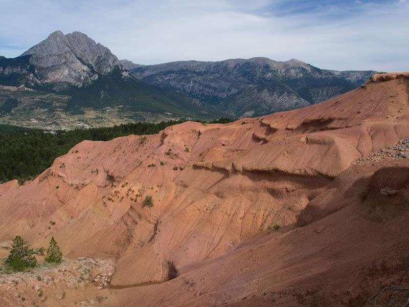 Els terrers de Palomera i al fons el Pedraforca