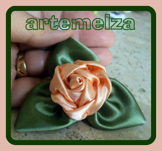 artemelza - rosa de cetim