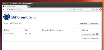 BitTorrent Sync su Ubuntu
