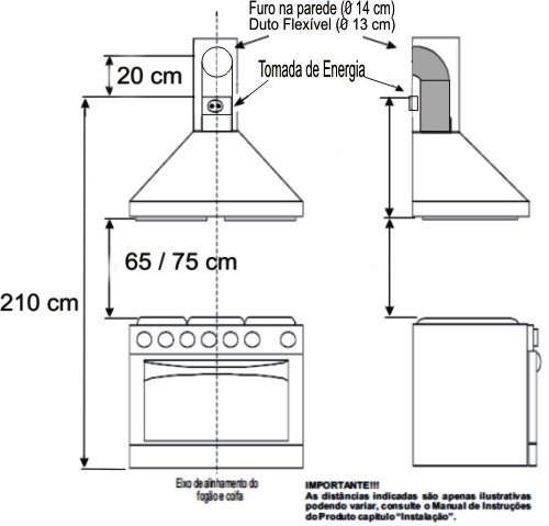 Babuchy decor cozinhas livre de fuma a e gordura poss vel - Altura campana cocina ...