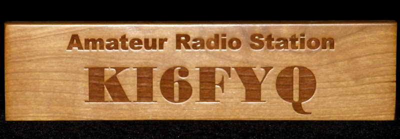 Cherry Laser Carved Engraving Call Sign Desk Plate