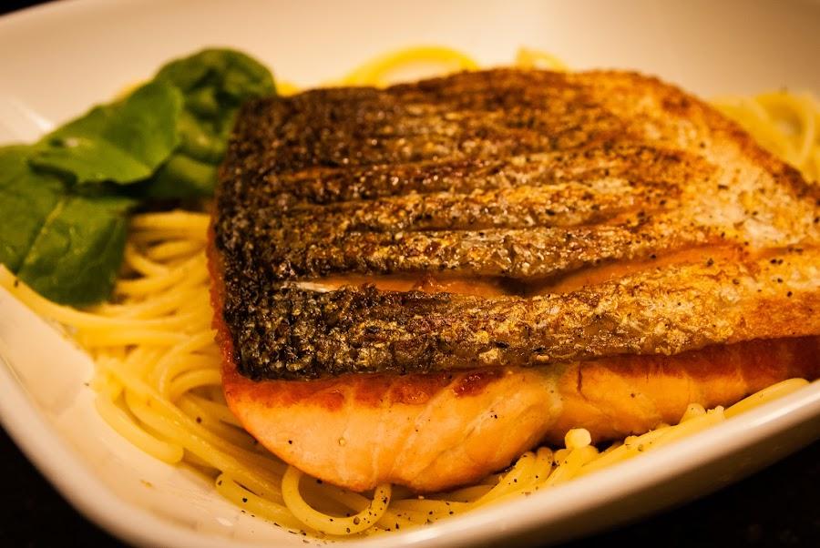 crispy salmon!