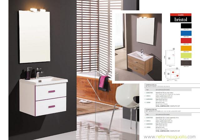 Medidas De Un Baño Normal:BRISTOL, muebles de fondo reducido a 40 cms ~ Reformas Guaita