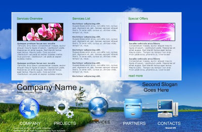 Technology Blue Business Flash Website Template