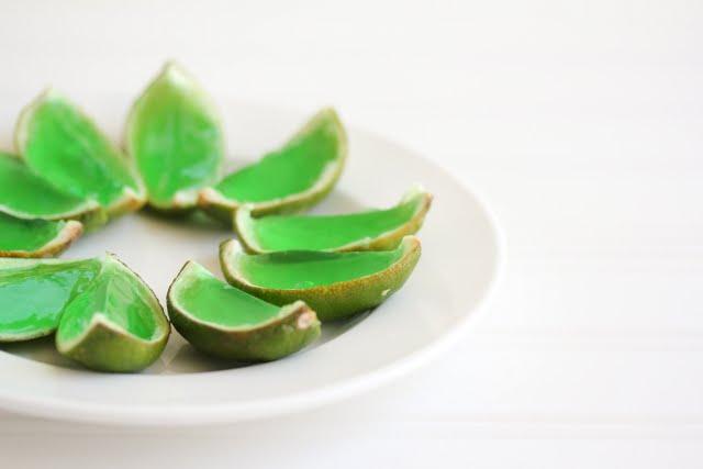 photo of margarita jello shots on a plate