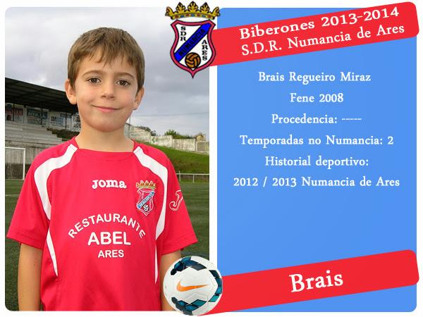 Brais Regueiro, xogador biberón do Numancia de Ares.