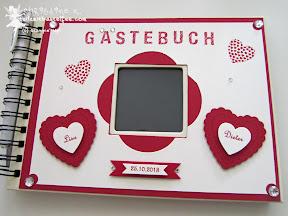 stampin up hearts a flutter bitty banners gästebuch hochzeit