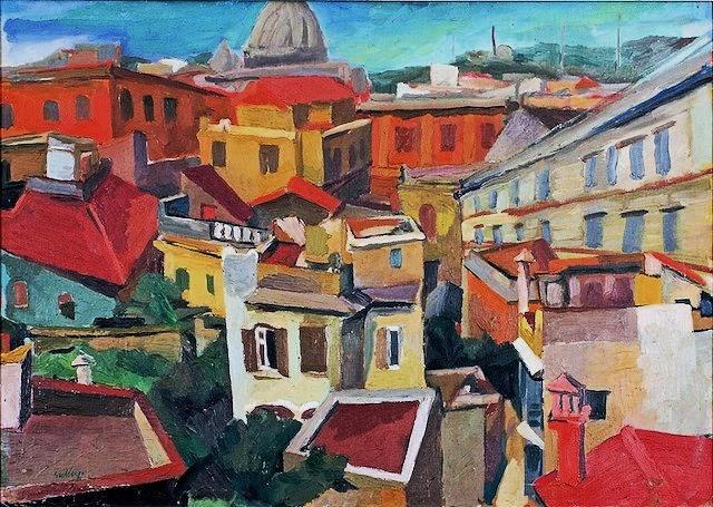 Paesaggio urbano di Renat Guttuso
