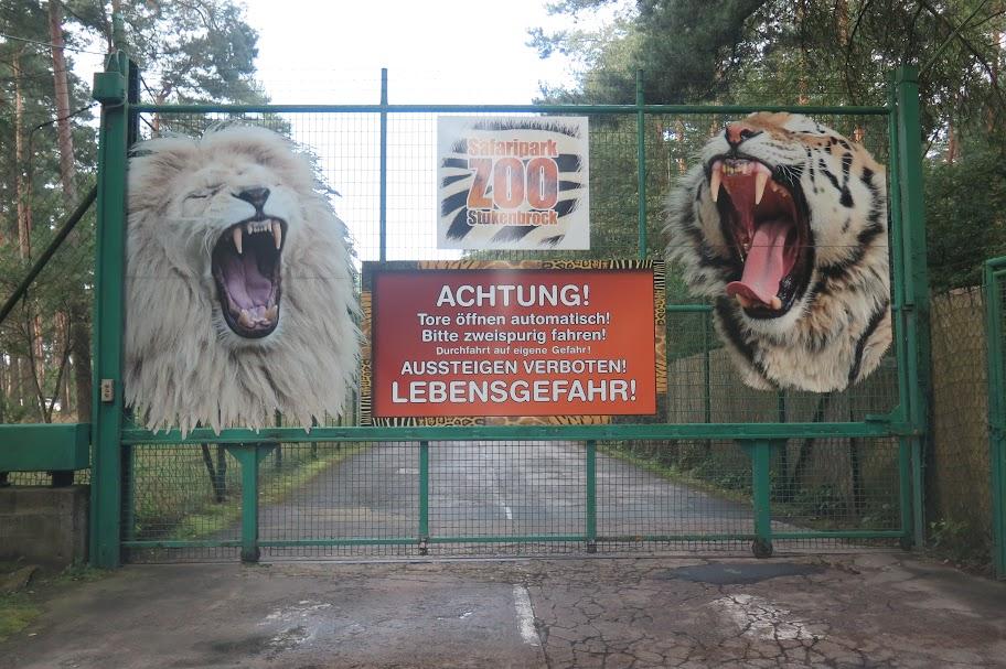 Hinter dem Tor beginnt die Safari