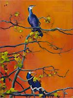Kék madaraim  2013  -  olaj-vászon  80x60