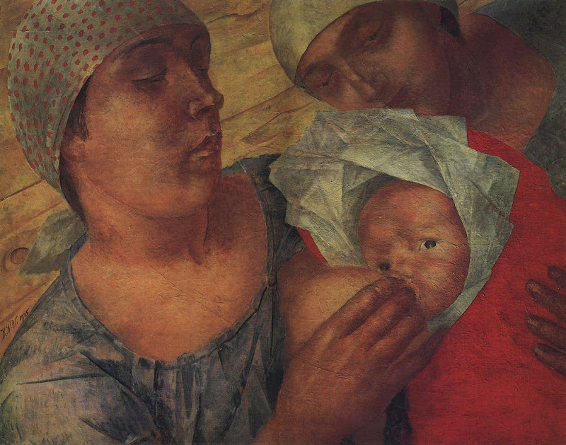 Kuzma Petrov-Vodkin - Motherhood. 1925
