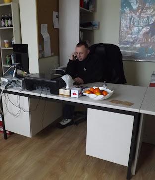 Der Chef bei der Arbeit... (Foto A.M.)