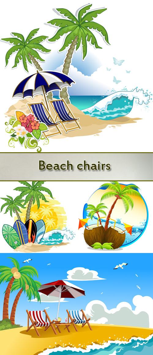 Stock: Beach chairs