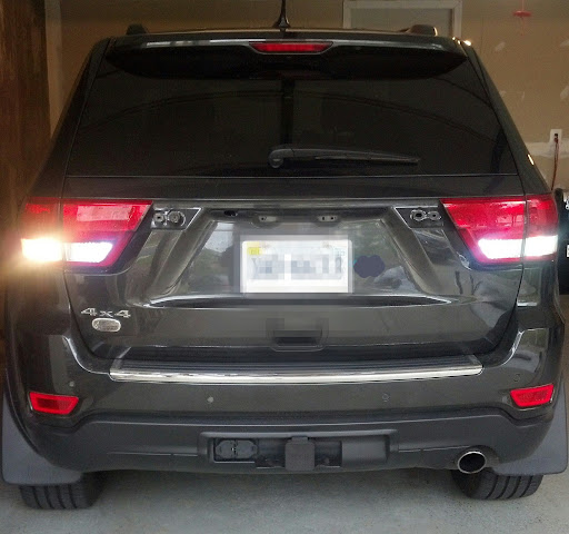 Ionic Running Boards Rear Chrome Brow & Reverse Light LEDs
