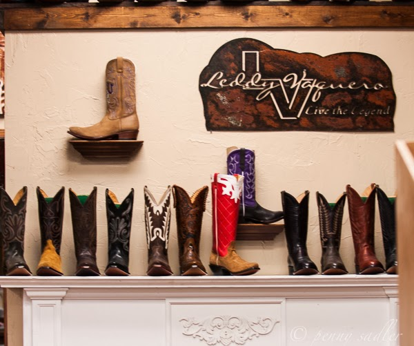 Shopping for custom cowboy boots at M.L. Leddy's, Ft Worth Stockyards