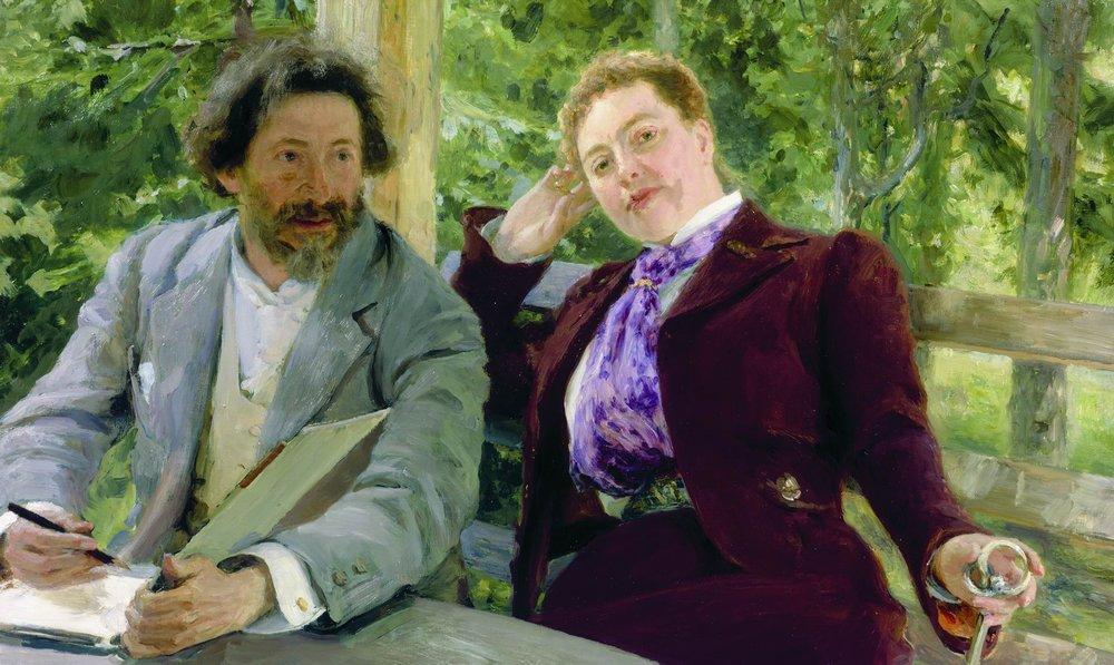 Ilia Repin - Self portrait with Natalia Borisovna Nordman-Severova