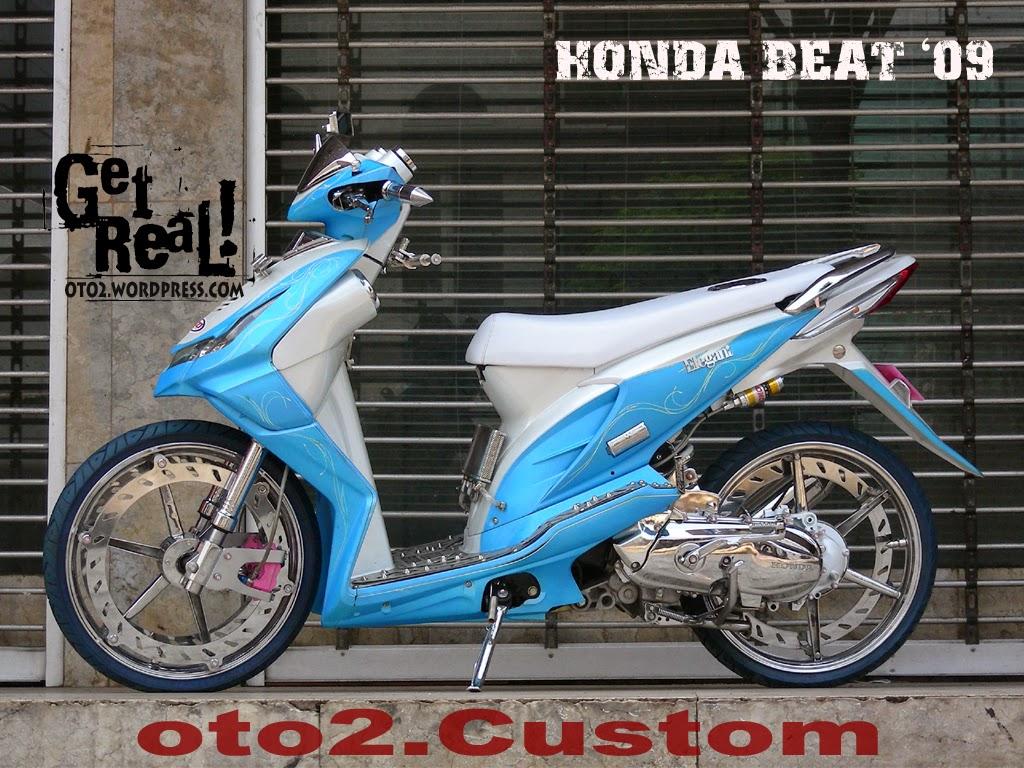 Modifikasi Honda Beat Drag Style