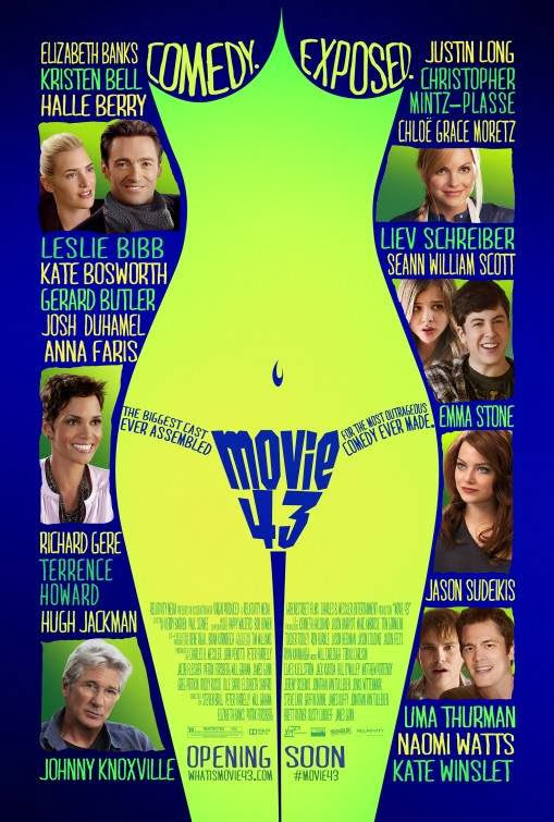 Poster Of English Movie Movie 43 (2013) Free Download Full New Hollywood Movie Watch Online At Alldownloads4u.Com