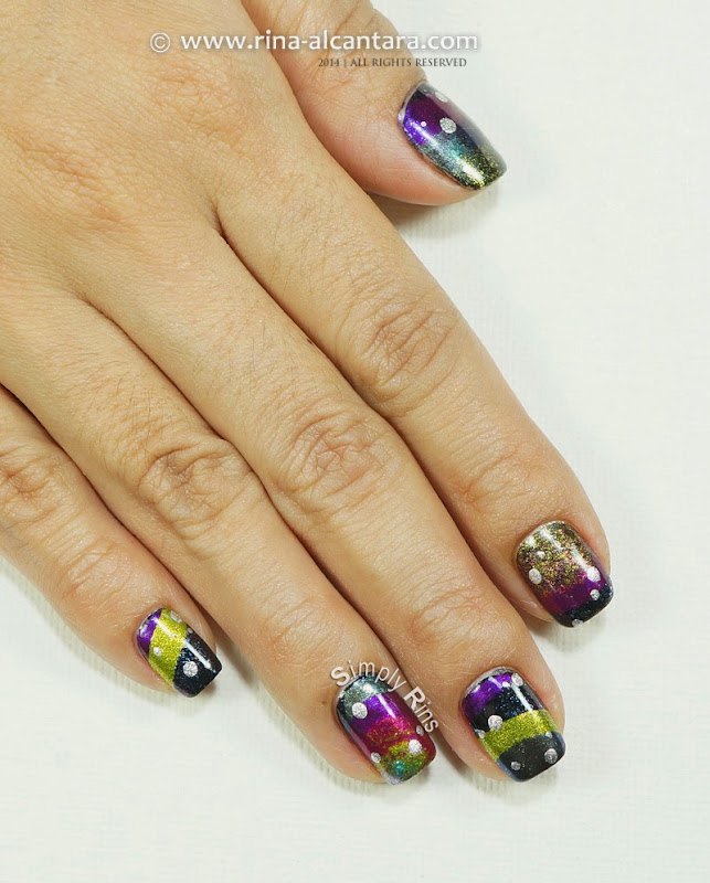 New Year 2015 Nail Art