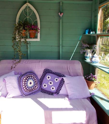Scottish artist Aileen Clarke's summer shed