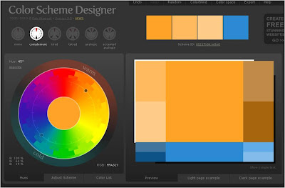 Designer And Click Somewhere On The Color Wheel To Pick A Starting Like Orange Then Complement Button Above
