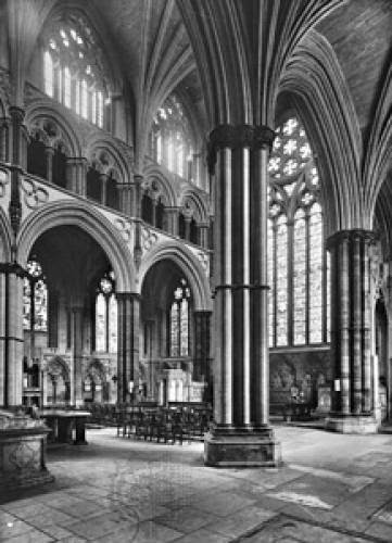 Gothic Cathedral Of Lincoln England