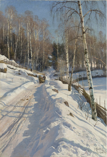 Peder Mork Monsted - Sleigh Ride on a Sunny Winter Day