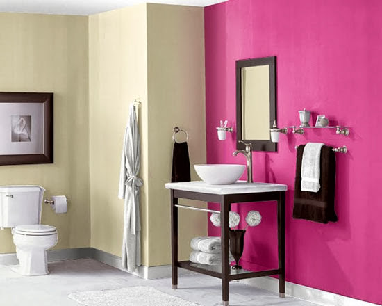Decoração cor de rosa no banheiro - I Love Pink