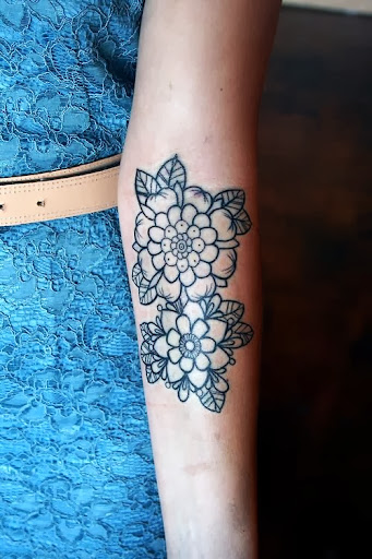 new 2017 flower tattoos