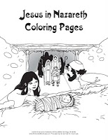 Coloring Pages Of Jesus In Nazareth.  Click on the images above to go download pages NLT is left NIV right and KJV bottom Children s Ministry Blog VBS Coloring Pages 2011