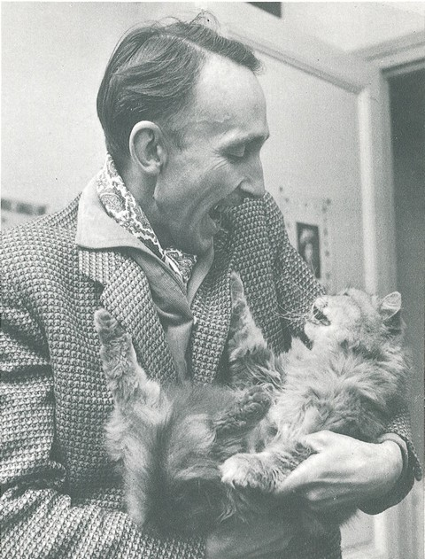 André Bazin and a cat