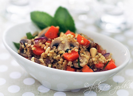 Millet grain makes a delicious gluten free side dish