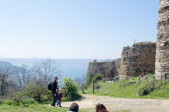 Yoros Kalesi'nden ayrılırken, Anadolu Kavağı