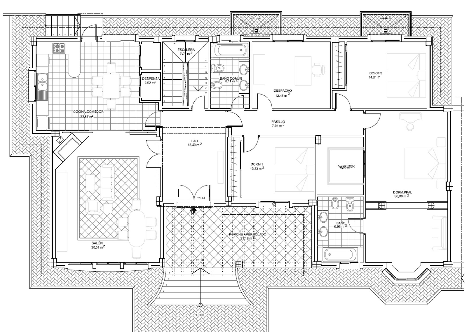 Arquisurlauro vivienda vivienda unifamiliar aislada con piscina sotano garage y trastero en - Planos de viviendas unifamiliares ...