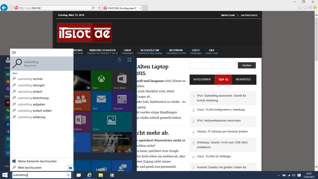 Windows 10 vom USB Stick installiert