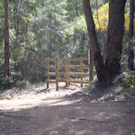 Timber gate on Perimeter Trail (27350)