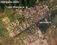 Satellite view of Islamabad