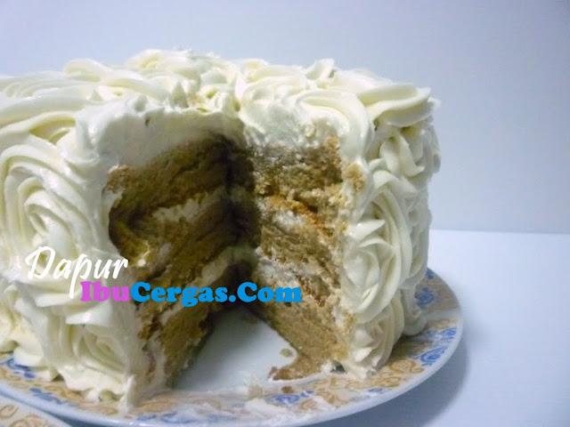 kek span kopi Resepi Kek Span Setengah Kilo Enak dan Mudah